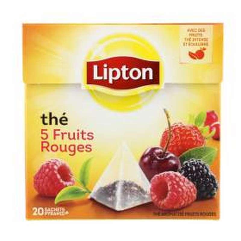 Thé aux 5 fruits rouges, Lipton (20 sachets)