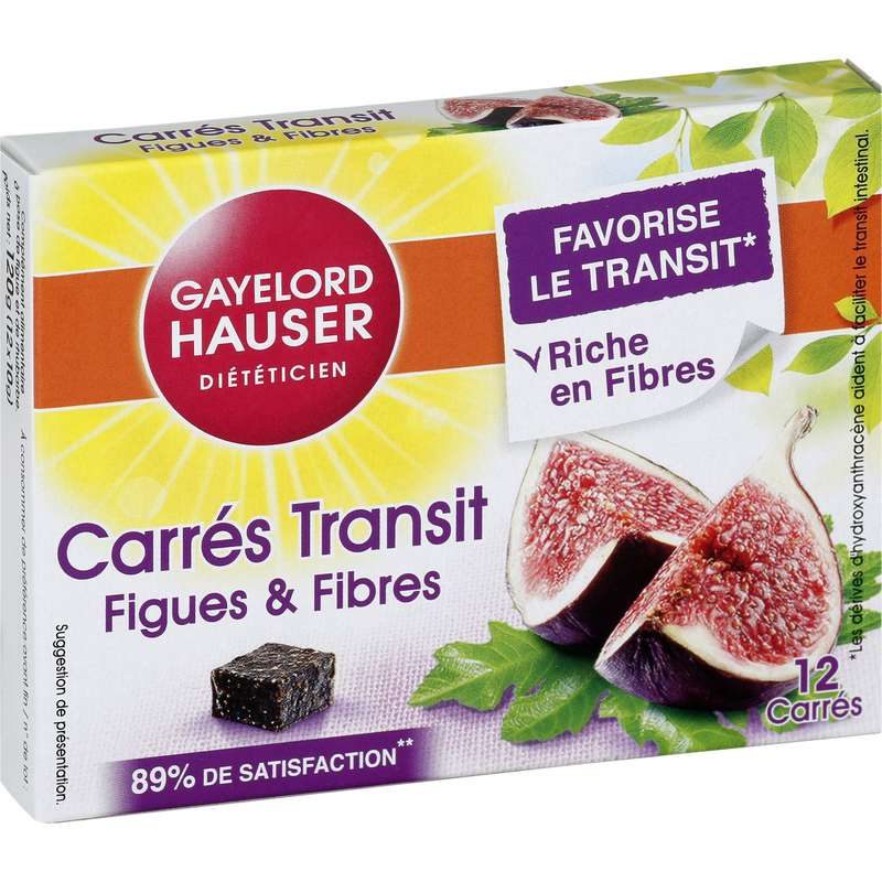 Complément alimentaire transit figues/fibres, Gayelord Hauser (120 g)