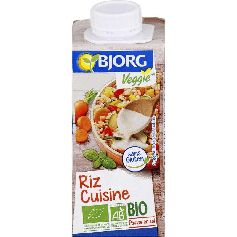 Préparation culinaire riz cuisine BIO, Bjorg (200 ml)