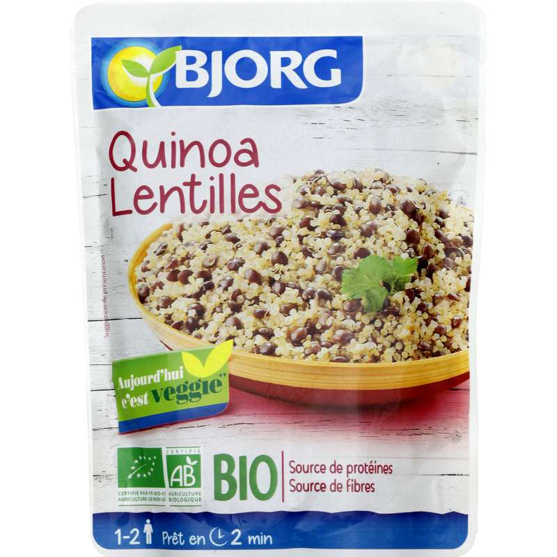 Plat cuisiné quinoa lentilles BIO, Bjorg (250 g)
