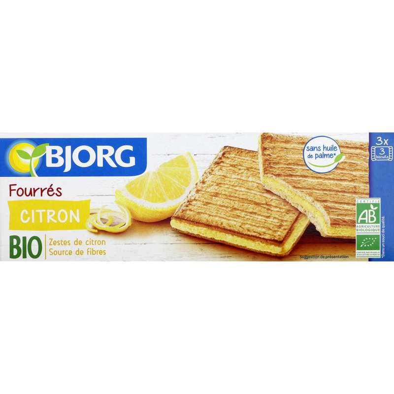 Biscuits fourrés citron BIO, Bjorg (225 g)