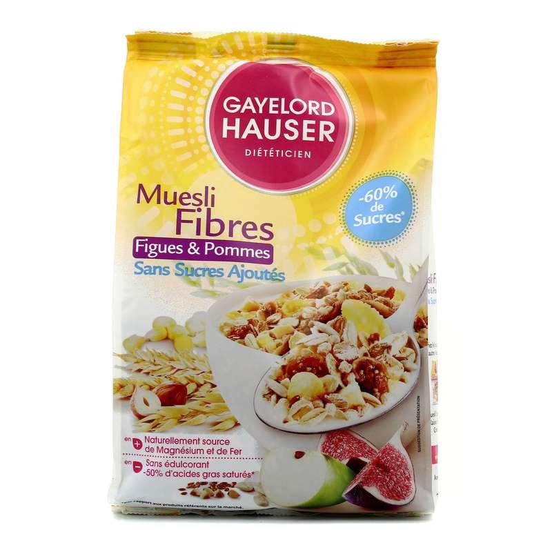 Céréales muesli fibres sans sucres ajoutés, Gayelord Hausser (375 g)