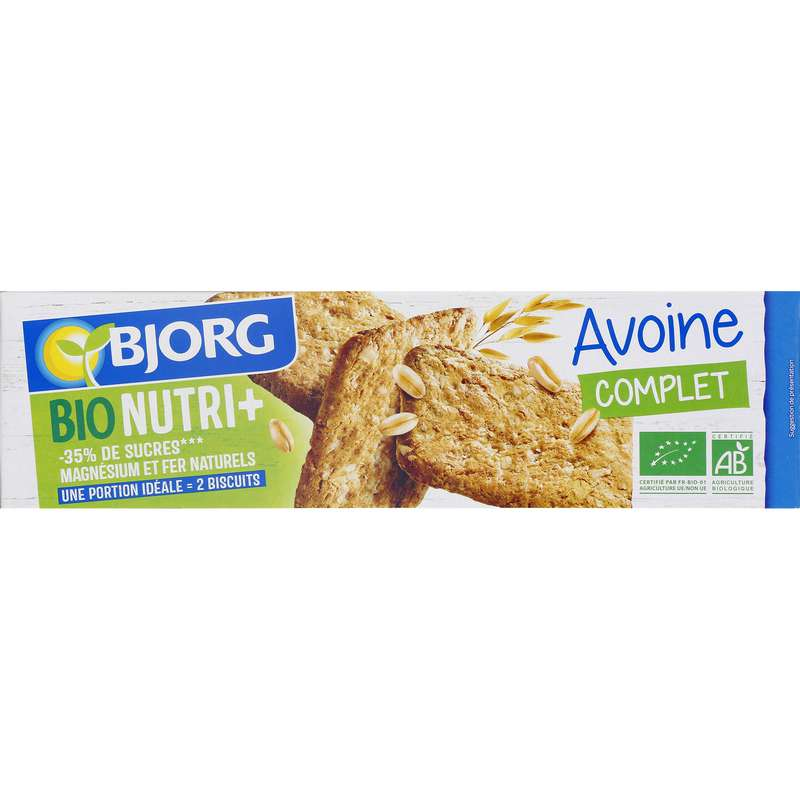 Biscuit avoine nature BIO, Bjorg (130 g)