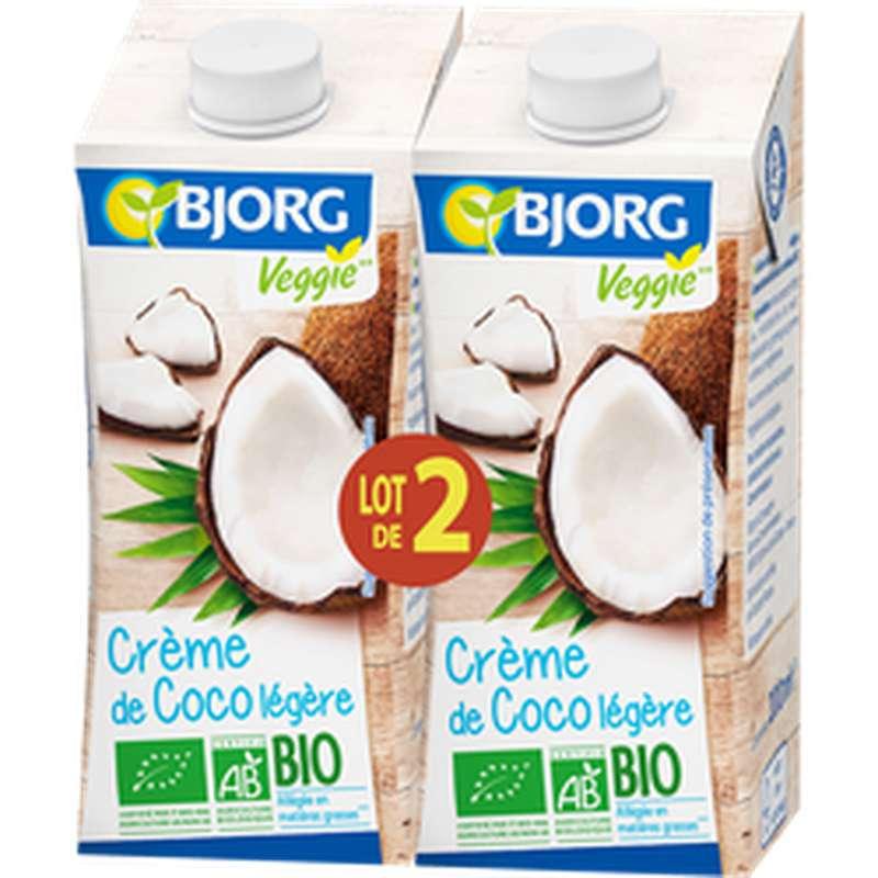 Crème de coco légère BIO, Bjorg (2 x 20 cl)