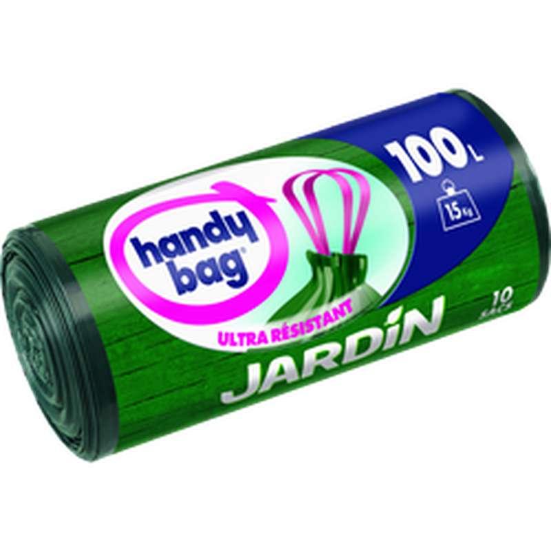 Sacs poubelles pour jardin Ultra Résistant, Handy Bag (10 x 100 L)