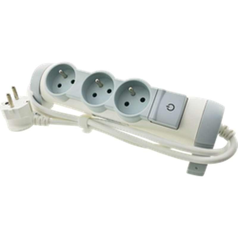 Bloc multiprises électriques avec interrupteur 3 prises, Legrand (1,5 m)