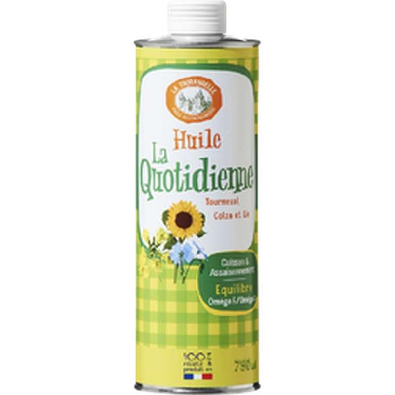 Huile La Quotidienne de tournesol, colza et lin, La Tourangelle (750 ml)