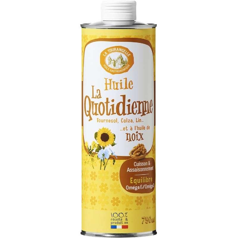 Huile La Quotidienne de tournesol, colza, lin et noix, La Tourangelle (750 ml)