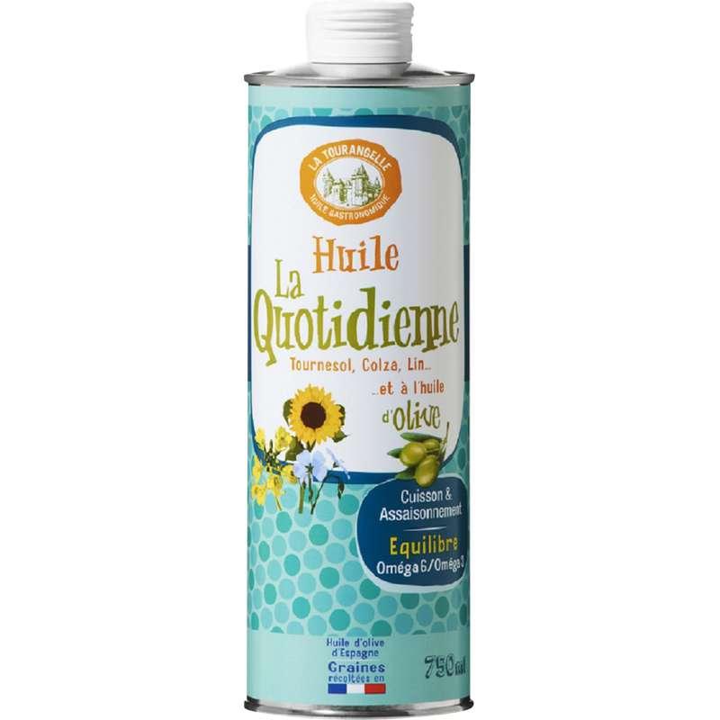 Huile La Quotidienne Ensoleillée de tournesol, colza, lin et olive, La Tourangelle (750 ml)
