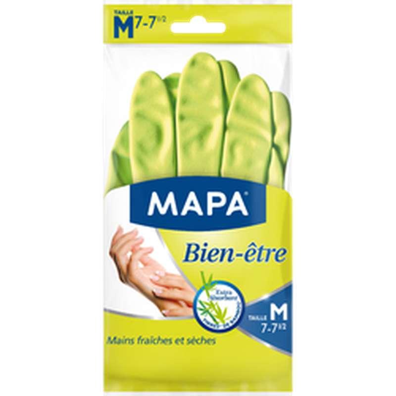 Gants ménagers Bien-Être en latex naturel, Mapa (taille M)