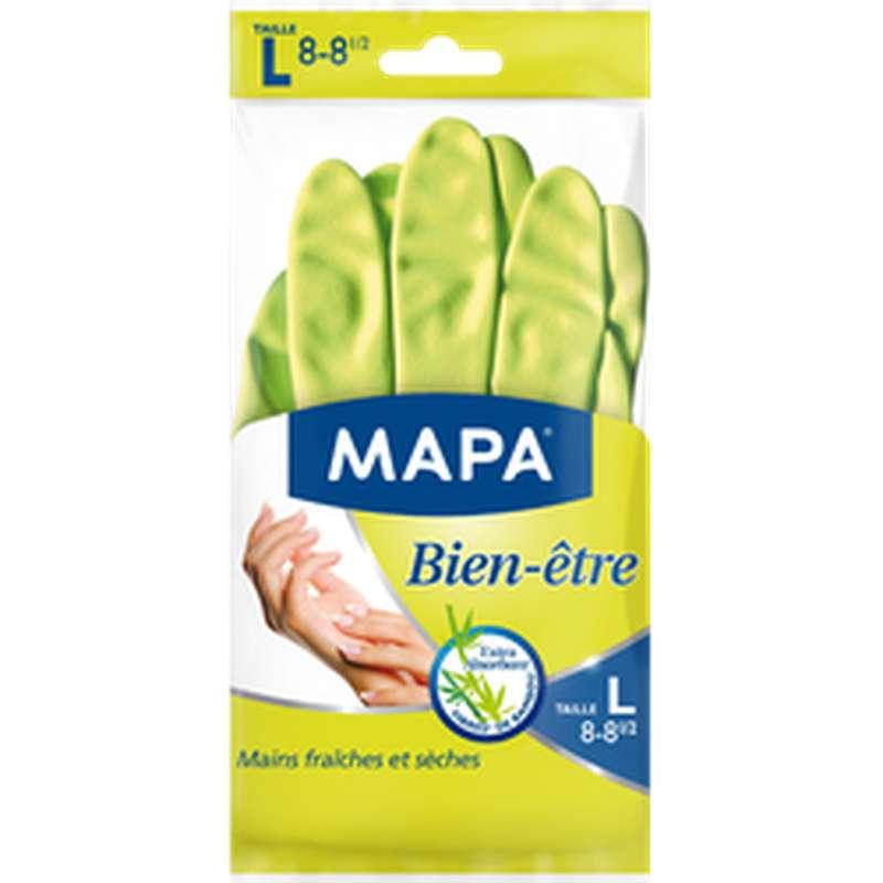 Gants ménagers Bien-Être en latex naturel, Mapa (taille L)