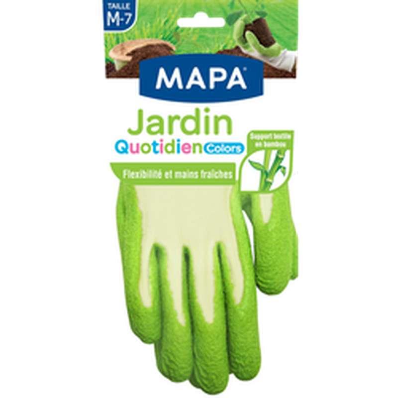 """Gants en fibres de bambou """"Jardin Quotidien""""  taille M, Mapa (x 1)"""