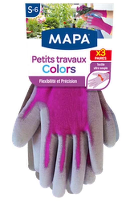 """Gants pour """"Petits travaux"""" taille S, Mapa (x 3)"""