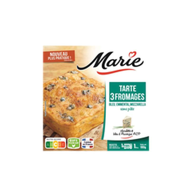 Tarte 3 fromages, Marie (180 g)