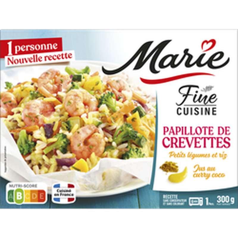Papillote de crevettes petits légumes et quinoa, Marie (300 g)