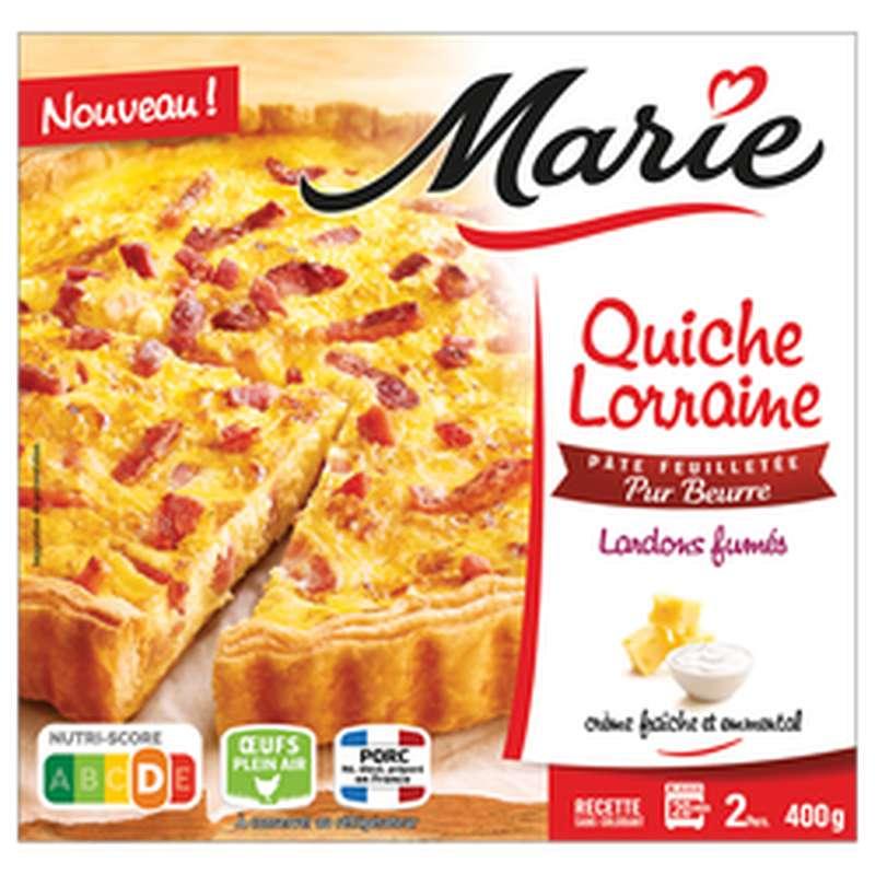 Quiche Lorraine pâte pur beurre lardons fumés, Marie (400 g)