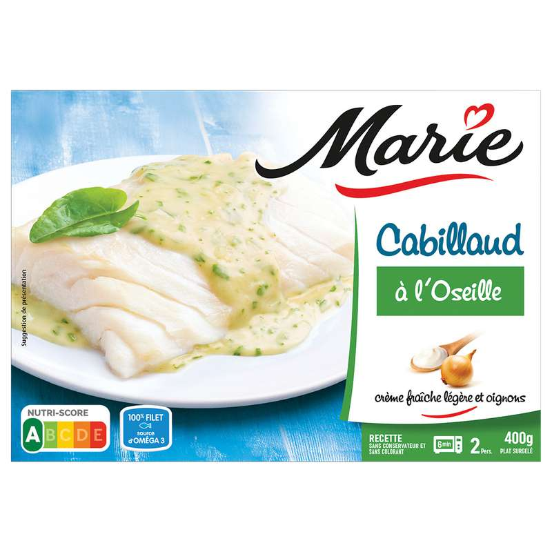 Cabillaud sauce à l'oseille, Marie (400 g)