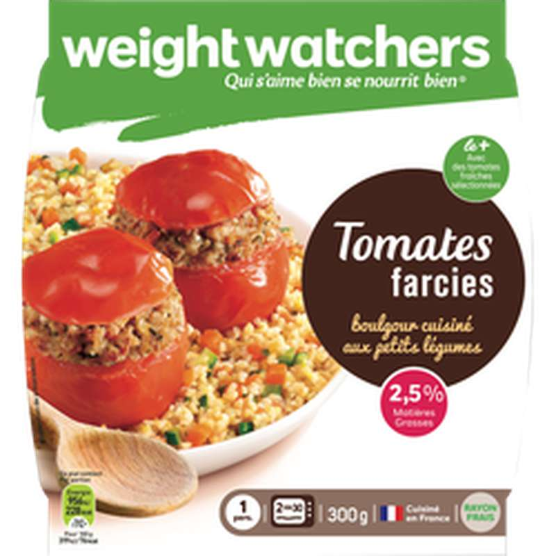 Tomates farcies et boulghour, Weight Watchers (300 g)