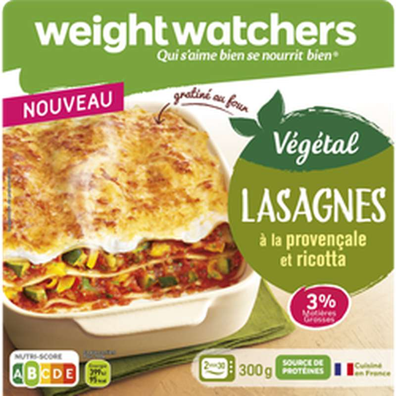 Lasagnes à la provençale et ricotta, Weight Watchers (300 g)