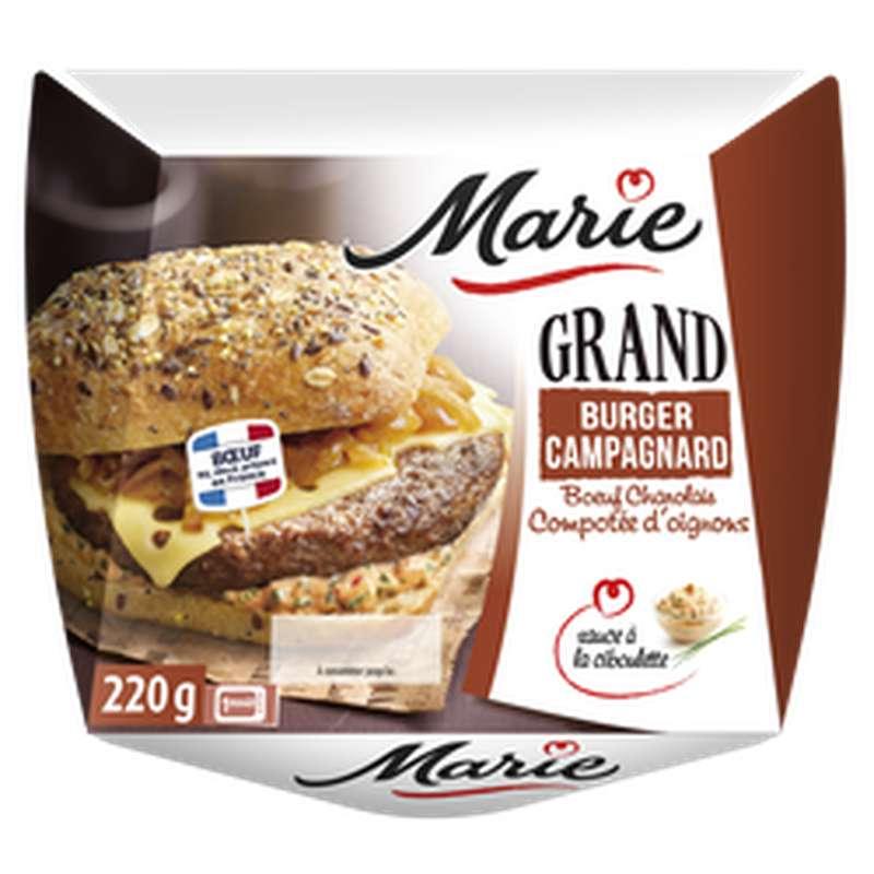 Burger Campagnard charolais compotée d'oignons sauce ciboulette, Marie (220 g)