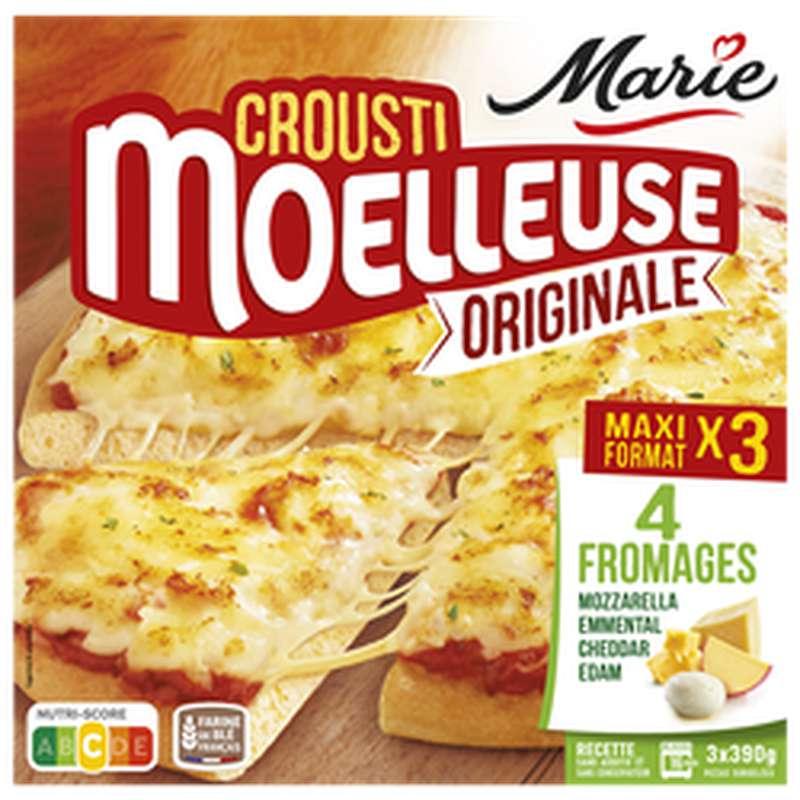 Pizza Crousti moelleuse au fromage, Marie (x 3, 1,170 kg)