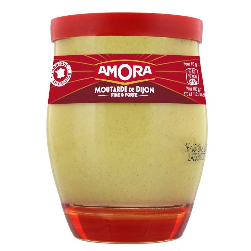 Moutarde de Dijon forte verre, Amora (245 g)