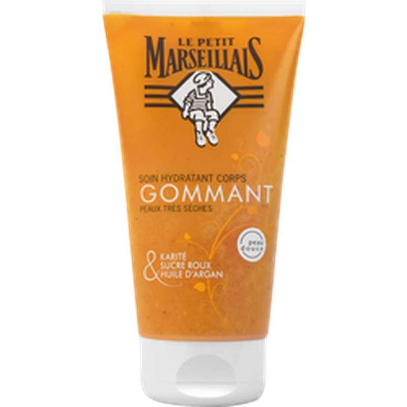 Soin gommant pour le corps hydratant pour peaux très sèches, Le Petit Marseillais (150 ml)