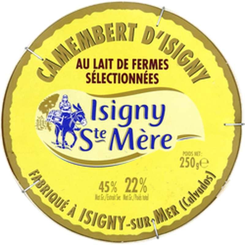 Camembert au lait micro filtré 22% MG, Isigny Ste Mère (250 g)