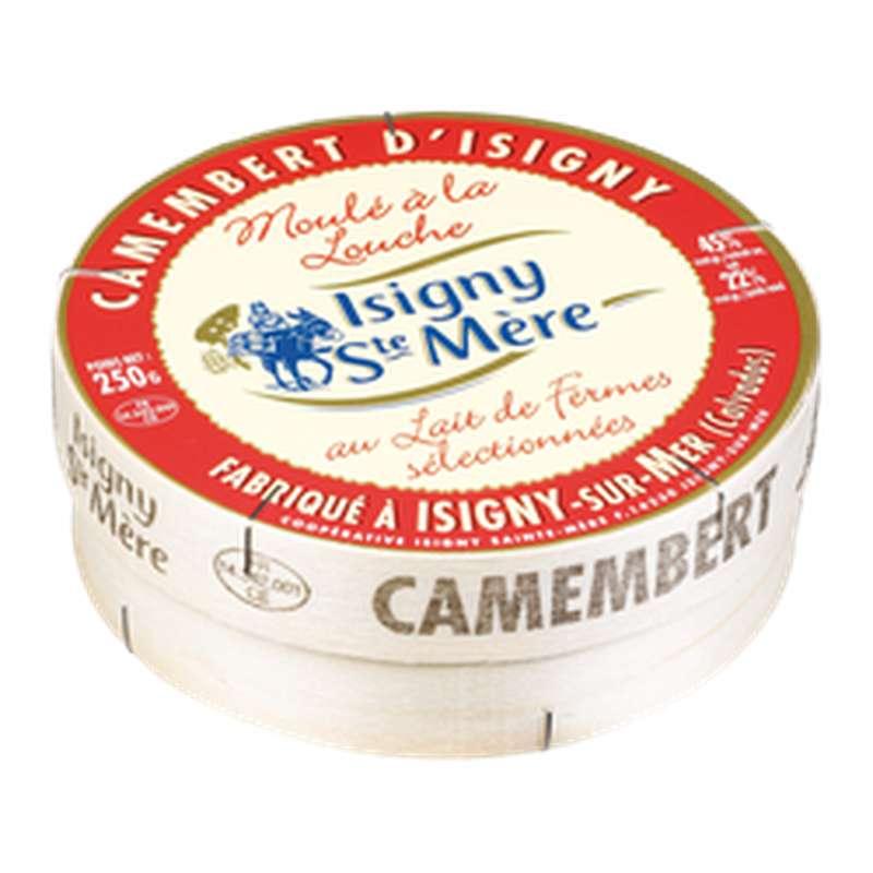 Camembert moulé à la louche au lait micro filtré 22% MG, Isigny Ste Mère (250 g)