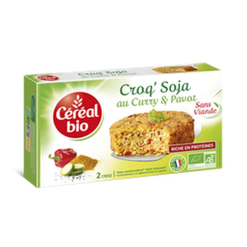 Croq' Soja au curry et pavot, Céréal Bio (200g)