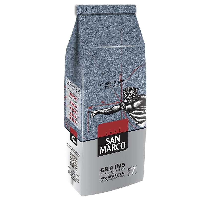 Café en grains pur arabica, San Marco (500 g)