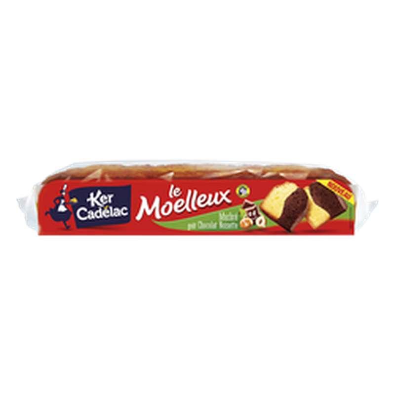 Gâteau Le moelleux marbré goût chocolat noisette, Ker Cadelac (500 g)