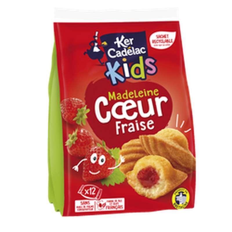 Madeleines Kids coeur fraise, Ker Cadelac (x 12, 420 g)