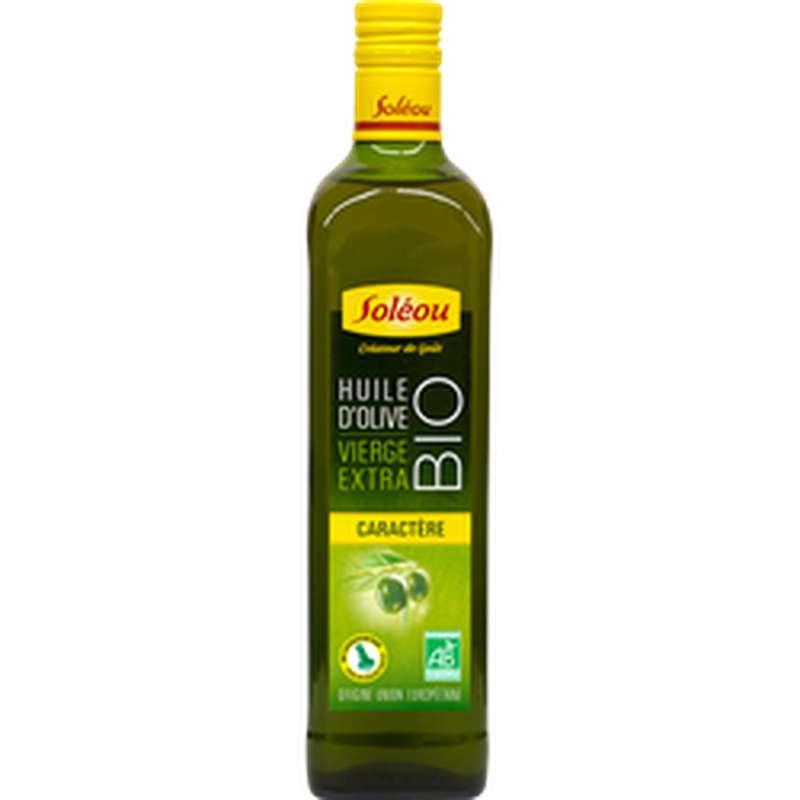Huile d'olive vierge extra Caractère BIO, Soleou (75 cl)