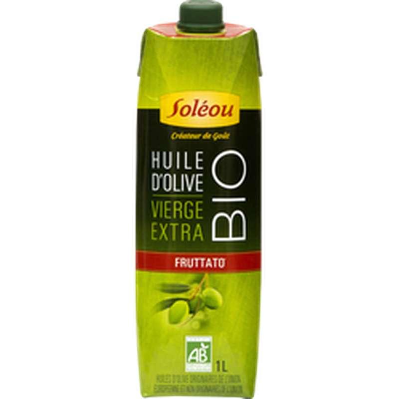 Huile d'olive vierge extra Fruttato BIO, Soleou (1 L)