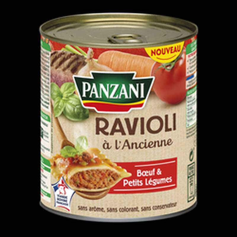 Ravioli à l'ancienne pur boeuf, Panzan (800 g)