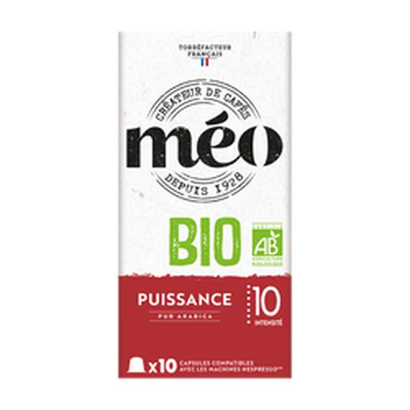 Café capsules puissance BIO, Meo (x 10)