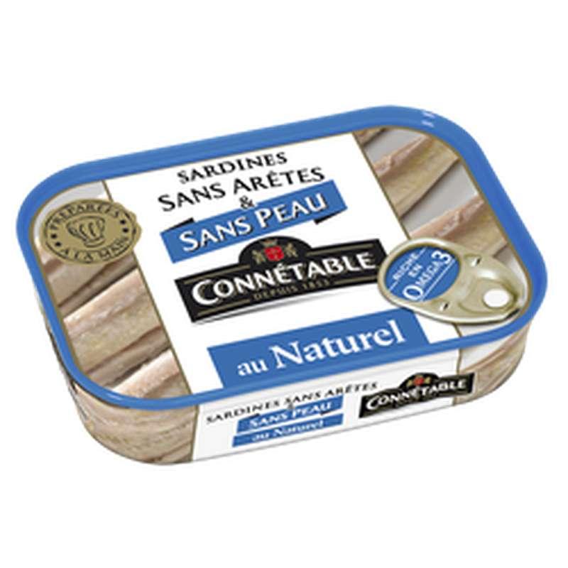 Sardines sans peau ni arêtes au naturel, Connetable (98 g)