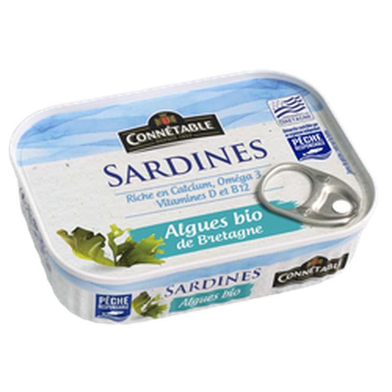 Sardines aux algues de Bretagne BIO, Connetable (135 g)