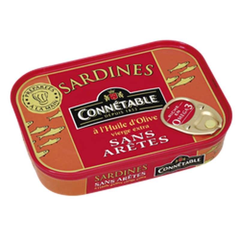 Sardines sans arêtes à l'huile d'olive, Connetable (115 g)