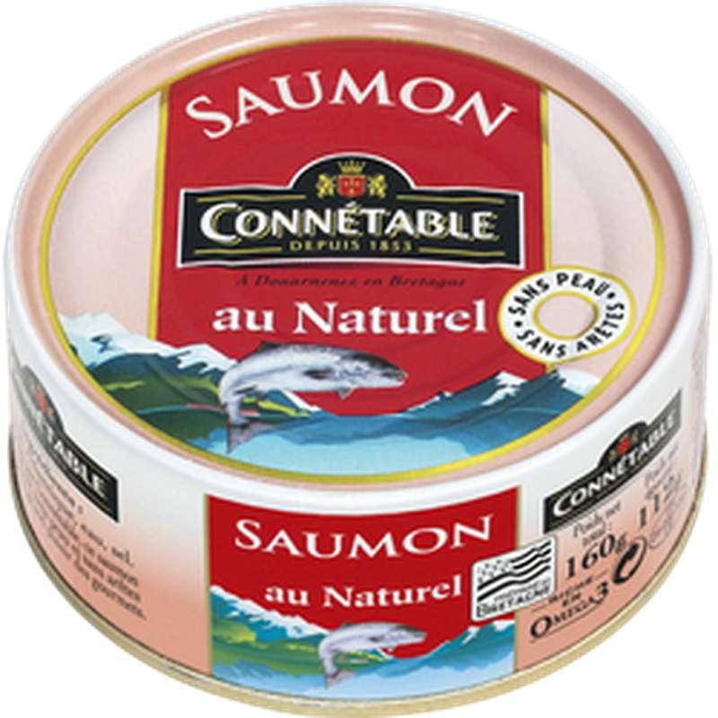Saumon au naturel sans peau et sans arêtes, Connetable (112 g)