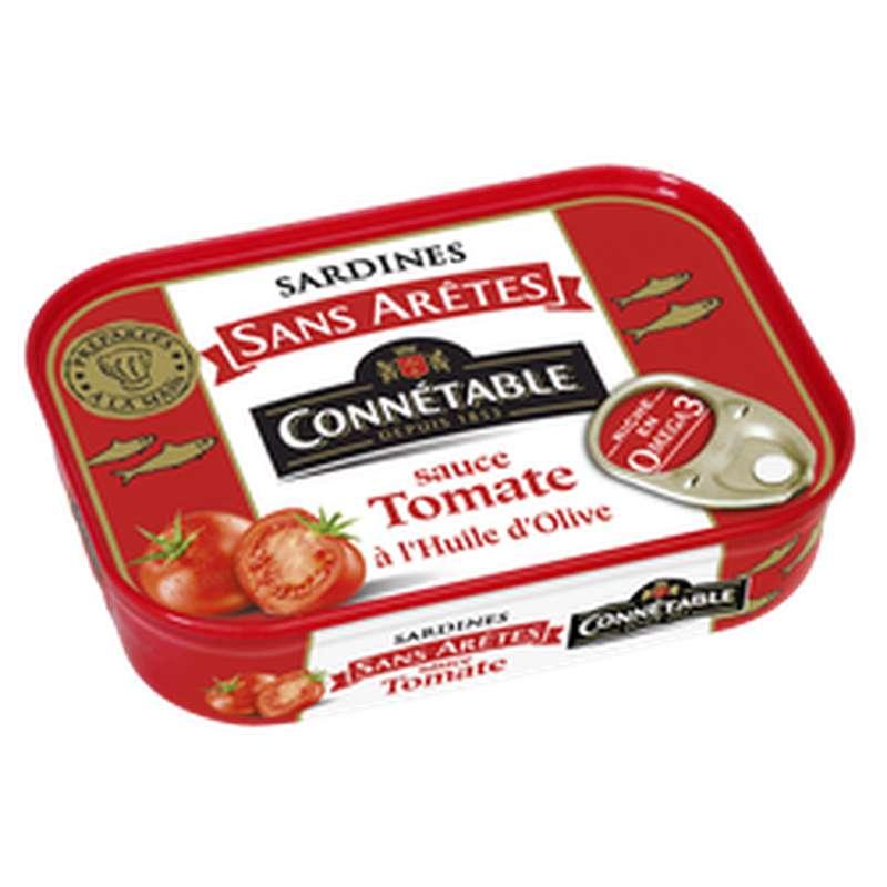 Sardines sans arêtes sauce tomate à l'huile d'olive, Connetable (140 g)