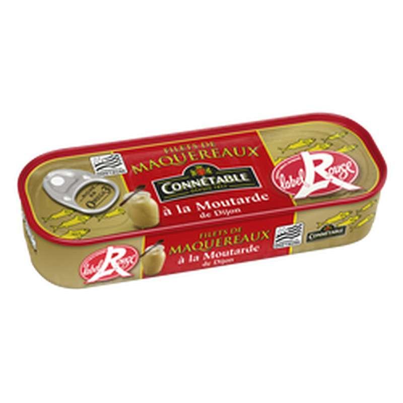 Filets de maquereaux à la moutarde de Dijon Label Rouge, Connetable (176 g)