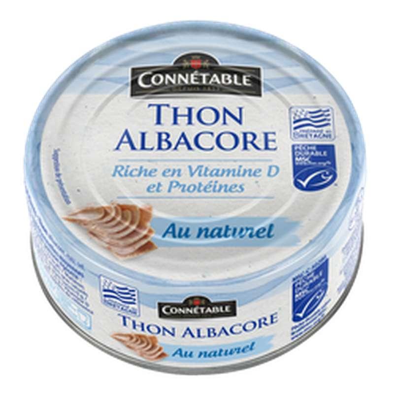 Thon albacore entier au naturel, Connetable (112 g)