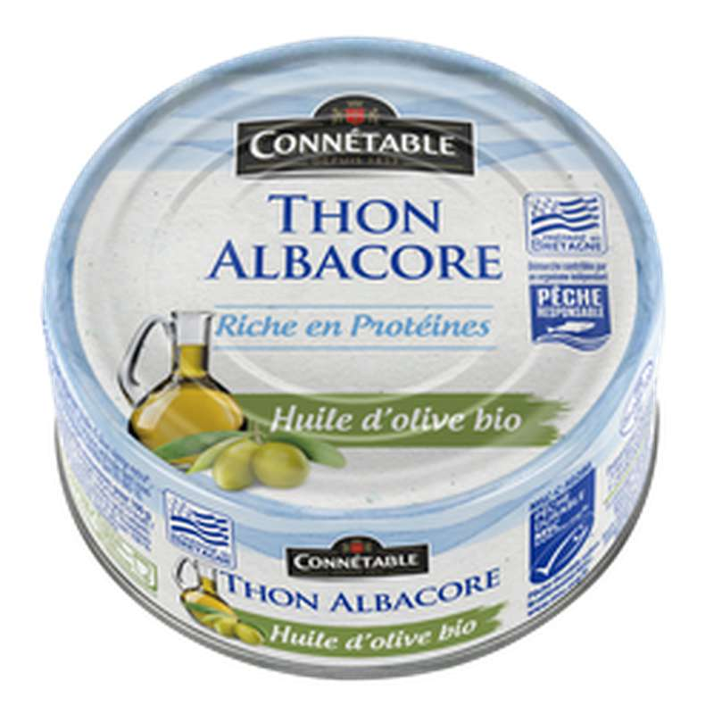 Thon albacore à l'huile d'olive BIO, Connetable (160 g)