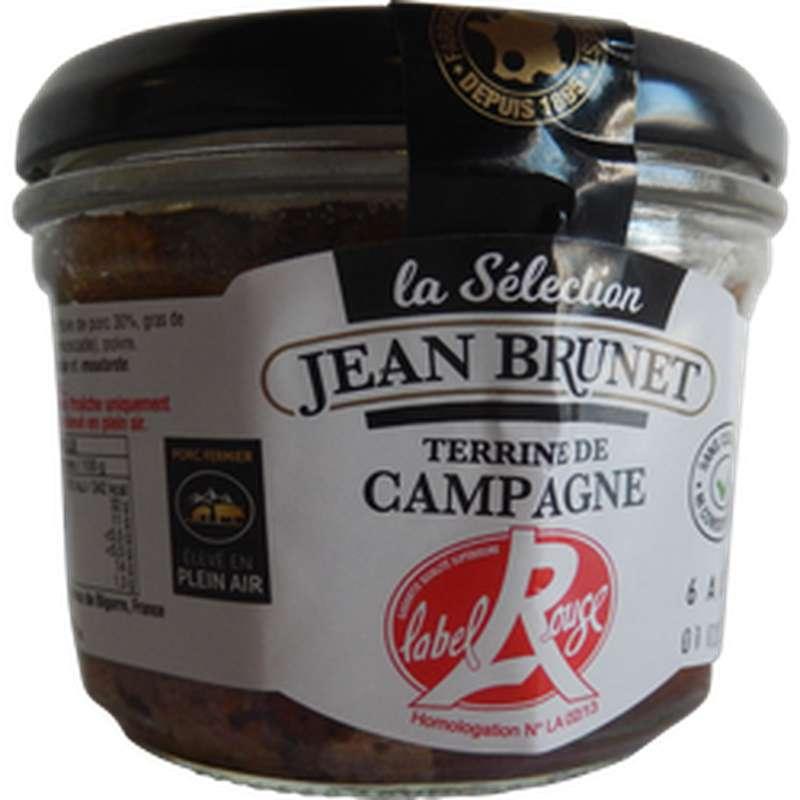 Terrine de campagne Label Rouge, Jean Brunet (180 g)