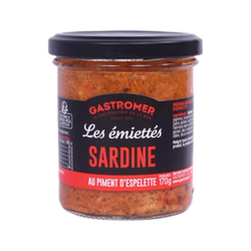 Les Émiettés Sardines au piment d'Espelette, Gastromer (170 g)