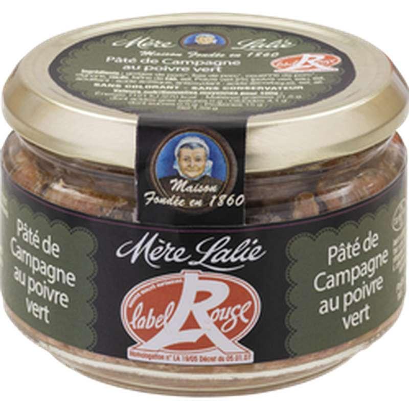 Pâté de campagne au poivre vert Label Rouge, Mère Lalie (180 g)