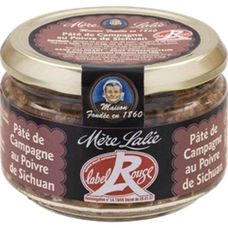 Pâté de campagne au poivre de Sichuan Label Rouge, Mère Lalie (180 g)