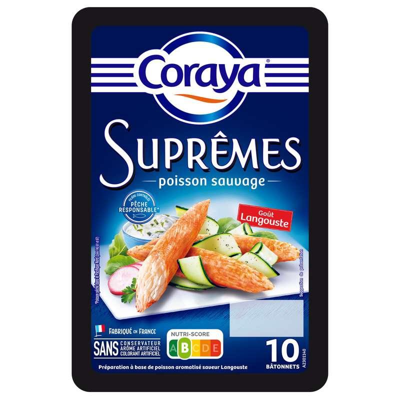 Bâtonnets de surimi Suprêmes goût langouste (x 10, 156 g)